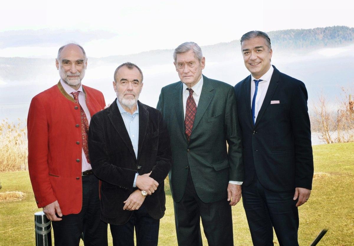 Prof. Dr. Harald Stossier, Josef Hohensinn, Dr. Hannes Androsch, Serhan Güven