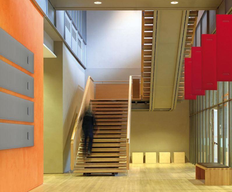 Schallschutzwände Treppenhaus Korridor - Schalldämmung im Büro - was bringt das?