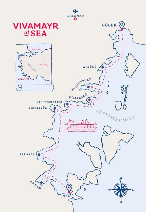 vivamayr at sea route türkey - VIVAMAYR at SEA - außergewöhnliche Schiffsreise mit Vivamayr Chefärzte