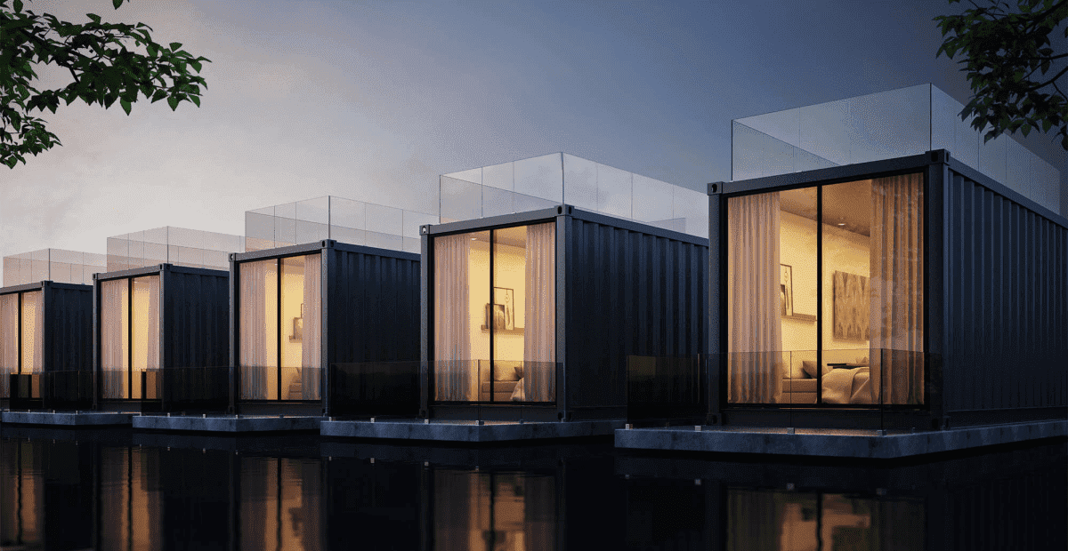 01 Container Haus am See - Top 10 Wohncontainer | Container Haus | Schiffscontainer Haus