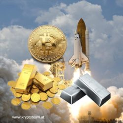 Gold, Silber, Bitcoin – wer den Höhenflügen an den Aktienmärkten