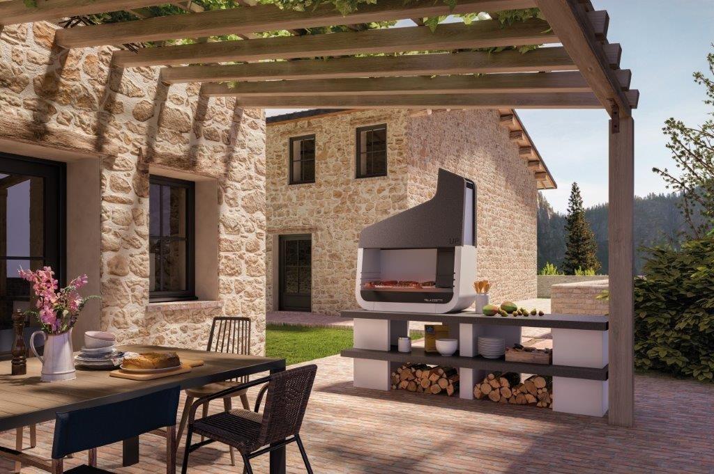 Palazzetti UP 02 outdoor grillstation - Der schönste Outdoor Griller für den Garten