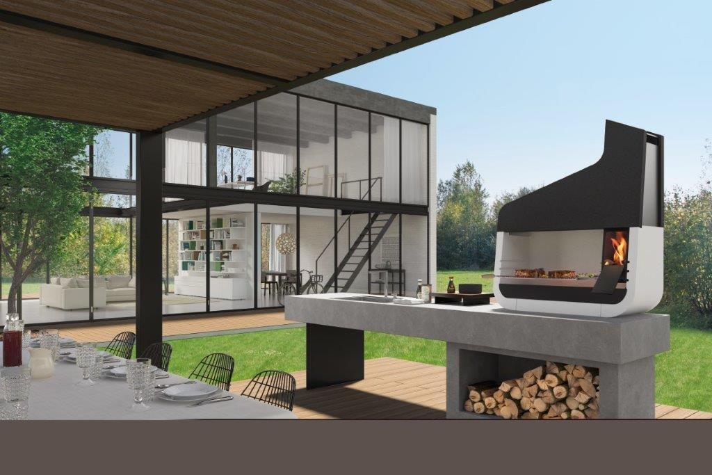 Palazzetti UP 06 outdoor grillstation - Der schönste Outdoor Griller für den Garten