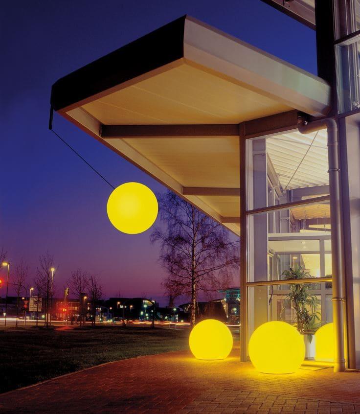 Leuchtkugeln mit Farbwechsell Gelb - Kugelleuchten & Kugellampen für den Garten Gartenkugeln Leuchtkugeln mit LED