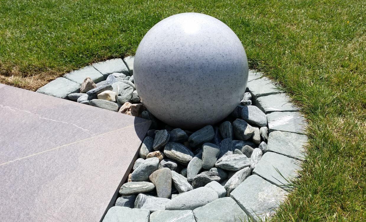 grosse granitkugel mit beleuchtung - Kugelleuchten & Kugellampen für den Garten Gartenkugeln Leuchtkugeln mit LED