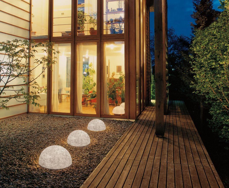 halbkugeln bodenkugeln halbrund outdoor - Kugelleuchten & Kugellampen für den Garten Gartenkugeln Leuchtkugeln mit LED