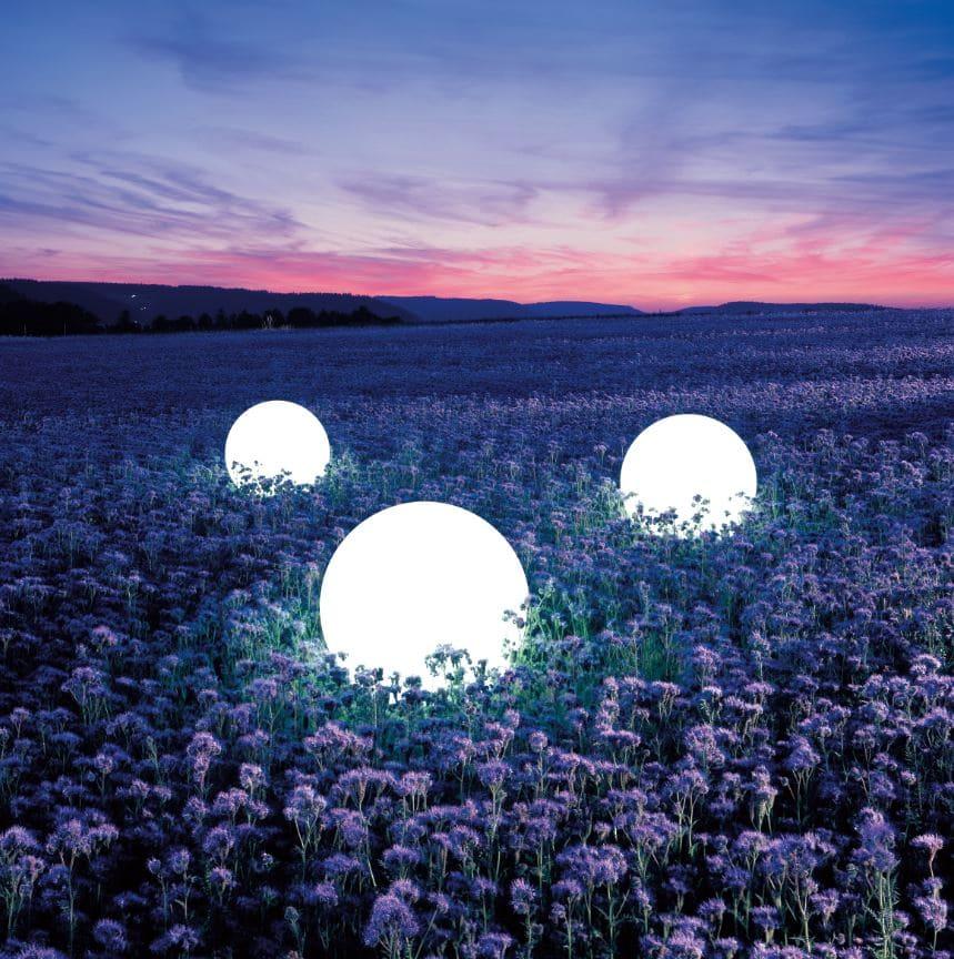 kugeln beleuchtet garten lavendel - Kugelleuchten & Kugellampen für den Garten Gartenkugeln Leuchtkugeln mit LED