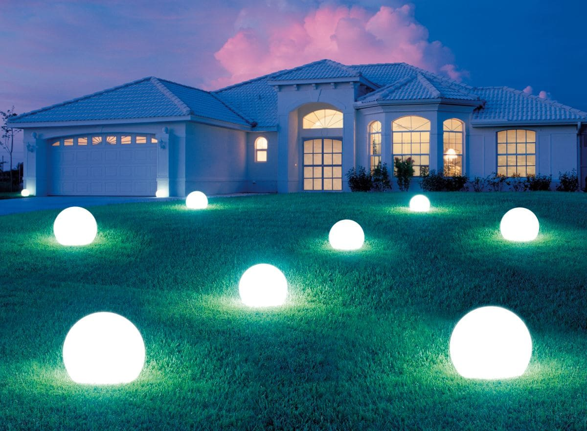 leuchtkugeln set garten 3er set kugeln - Kugelleuchten & Kugellampen für den Garten Gartenkugeln Leuchtkugeln mit LED