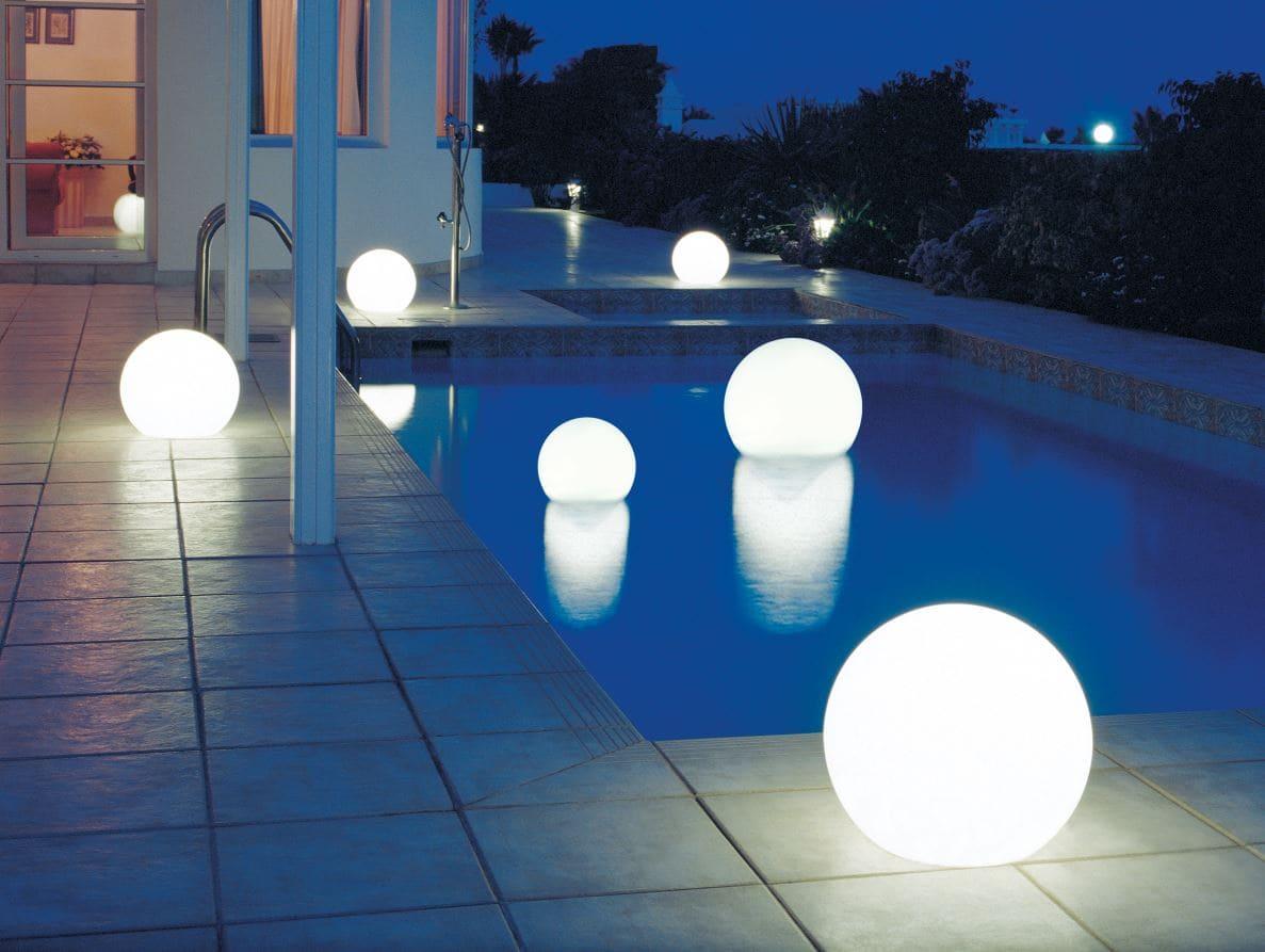 poolbeleuchtung leuchtkugeln - Kugelleuchten & Kugellampen für den Garten Gartenkugeln Leuchtkugeln mit LED