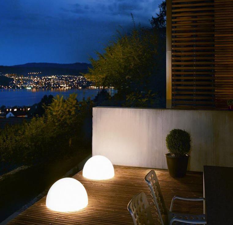 terrassenbeleuchtung - Kugelleuchten & Kugellampen für den Garten Gartenkugeln Leuchtkugeln mit LED