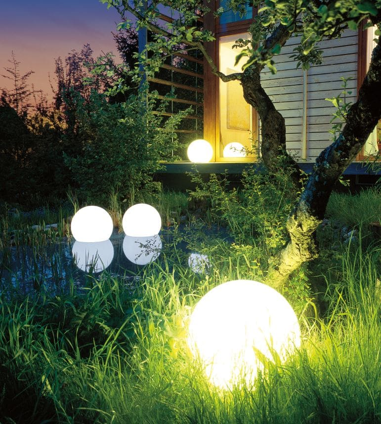 wasserfeste leuchtkugeln garten pool biotop - Kugelleuchten & Kugellampen für den Garten Gartenkugeln Leuchtkugeln mit LED