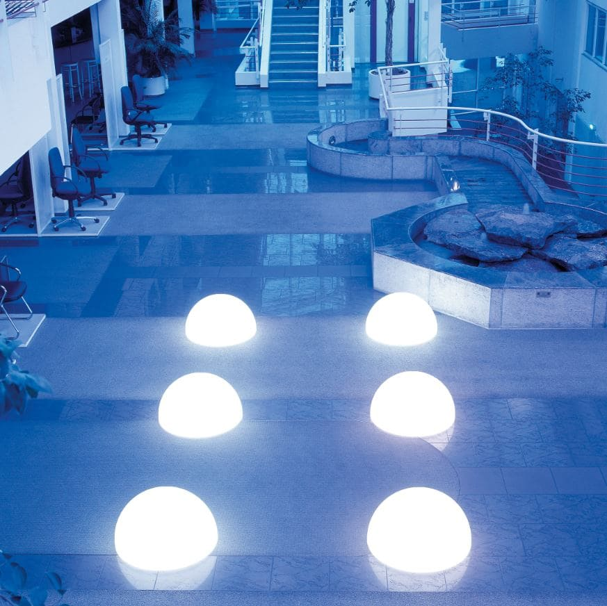 weisse halbkugeln beleuchtet bodenkugeln - Kugelleuchten & Kugellampen für den Garten Gartenkugeln Leuchtkugeln mit LED
