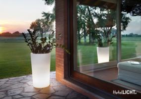 Beleuchtete Vasen für Außen, Vase für Garten,