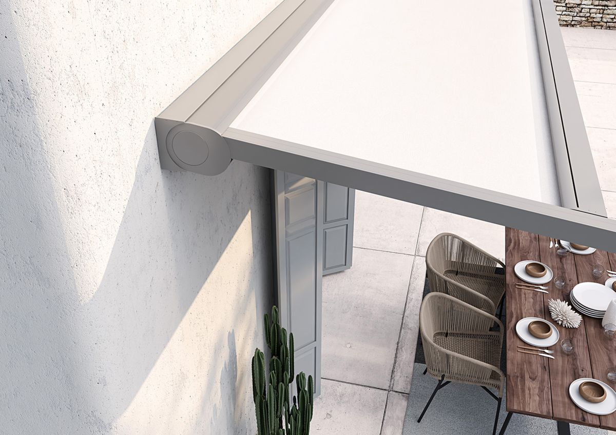 Pergola Markisen Montage - Pergola mit aufrollbarem Dach-Tuch mit minimalistischem Design