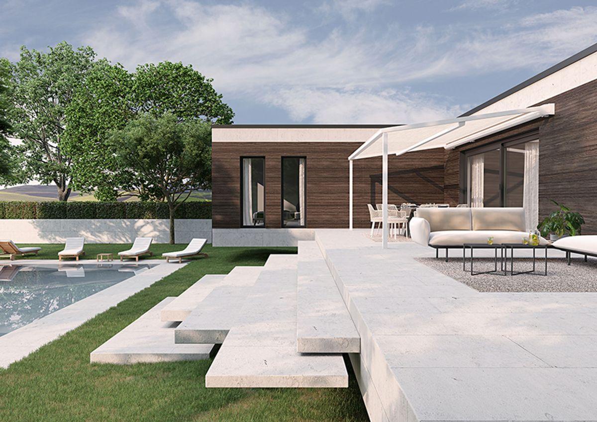 Pergola Markisen Terrasse - Pergola mit aufrollbarem Dach-Tuch mit minimalistischem Design