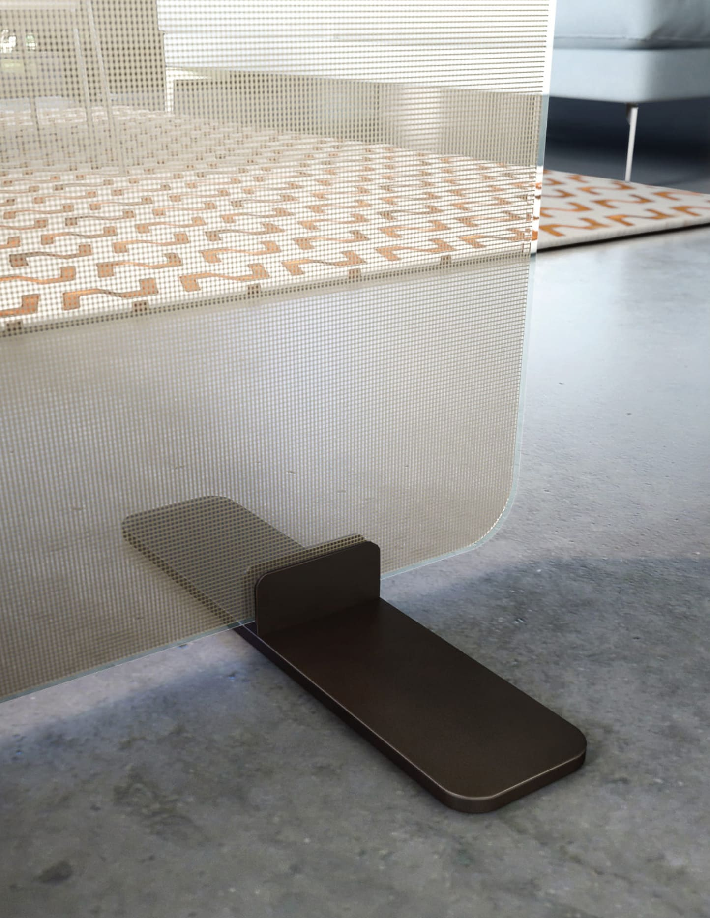 Raumteiler aus Glas Corona Trennwand