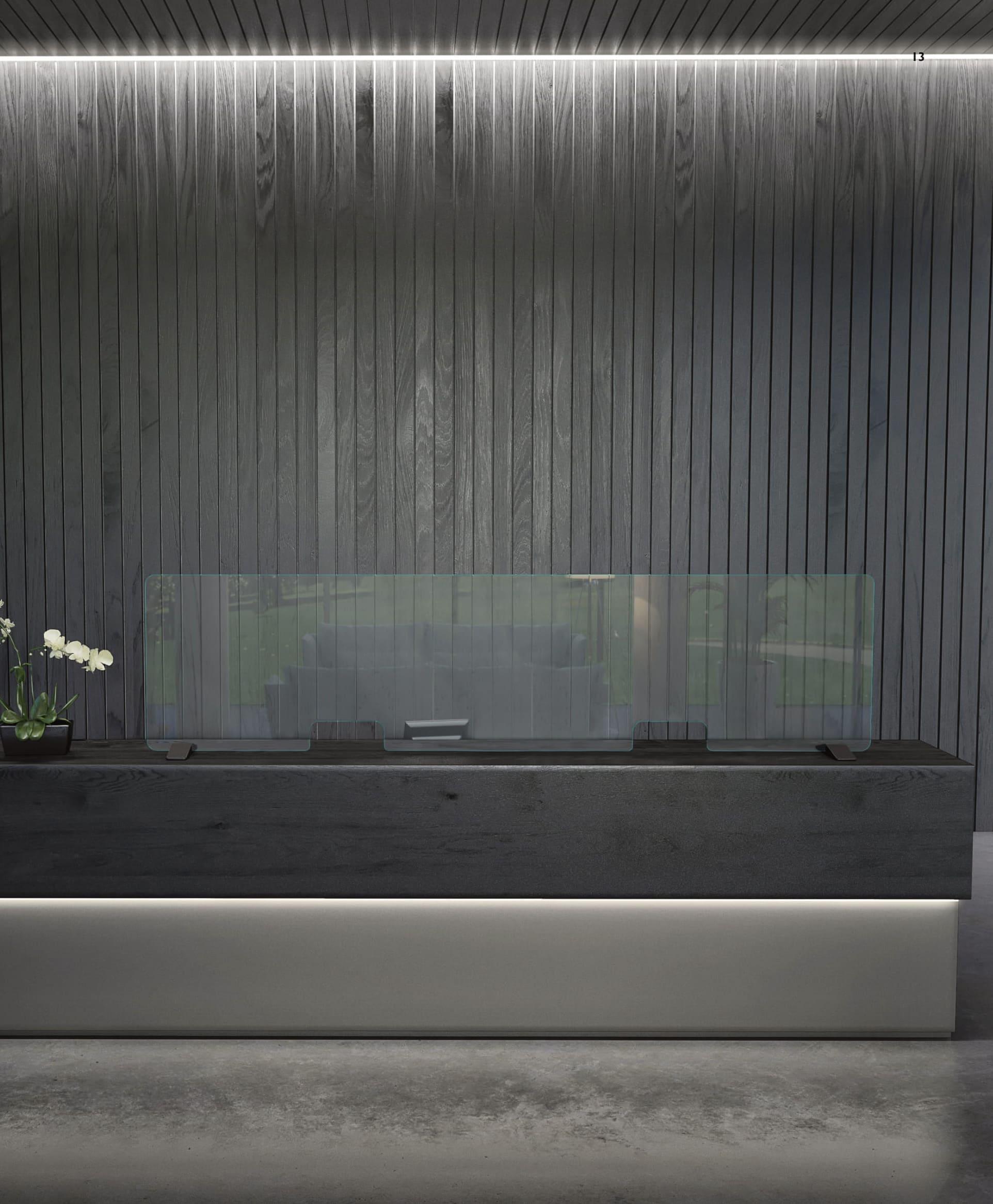 Trennwand aus Glas Gras Italia Design Glastrennwand