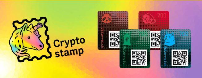 Post Blockchain Briefmarken Cryptostamp - Crypto Stamp: Österreichische Post gab vier neue Blockchain-Briefmarken heraus