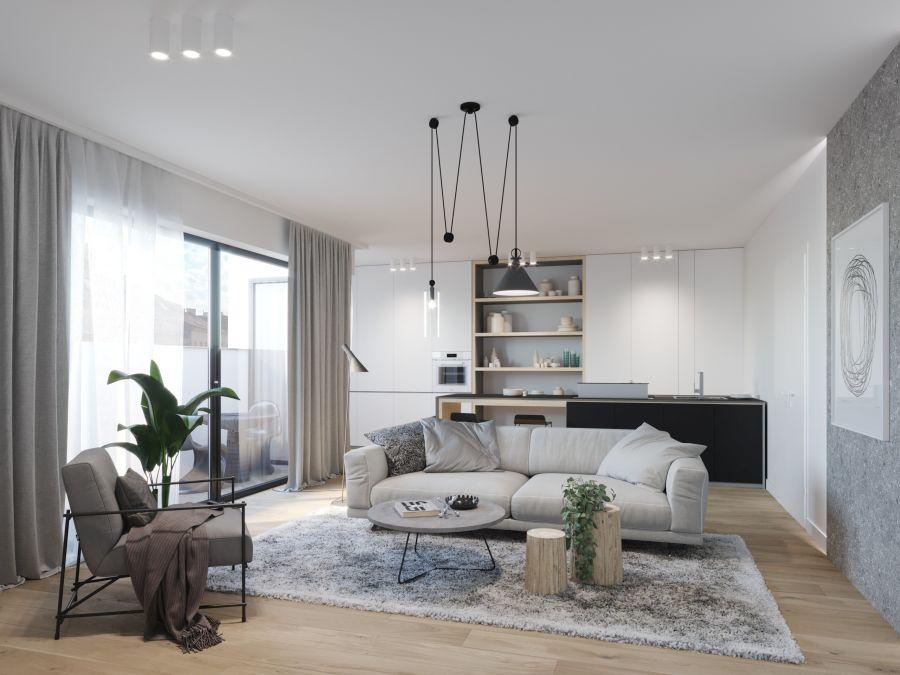 01 Visualkonzept Amerling Wohnzimmer Top6 U6 Immobilien Wien - Wohnung in Wien kaufen