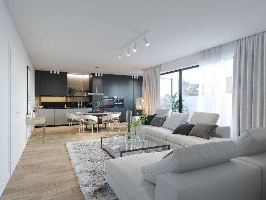 04 Visualkonzept Amerling Wohnzimmer Top7 U3 Immobilien Wien - Wohnung in Wien kaufen