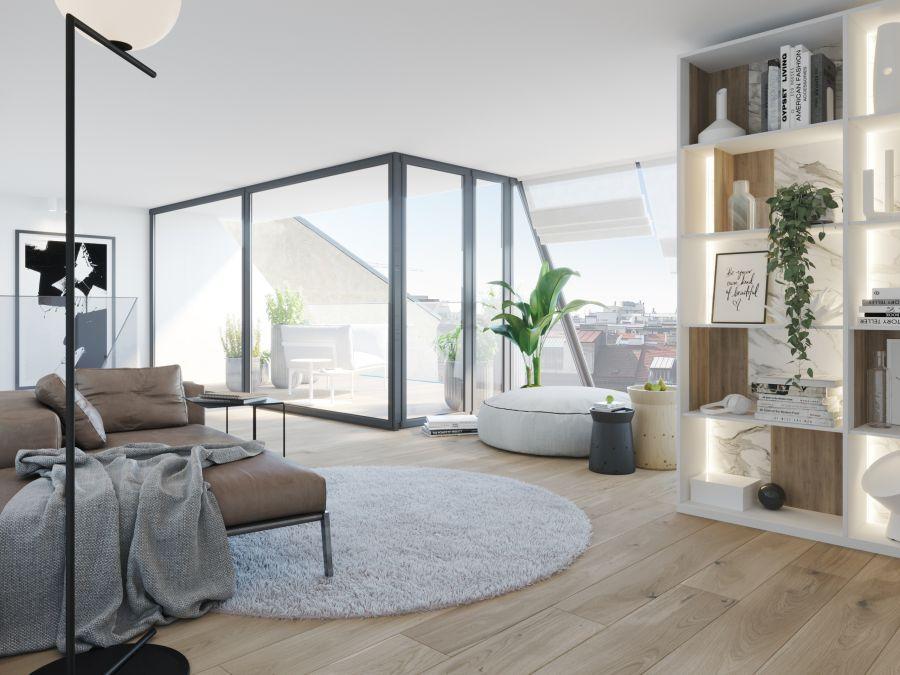 05 Visualkonzept Amerling Lounge Top7 U5bis Immobilien Wien - Wohnung in Wien kaufen