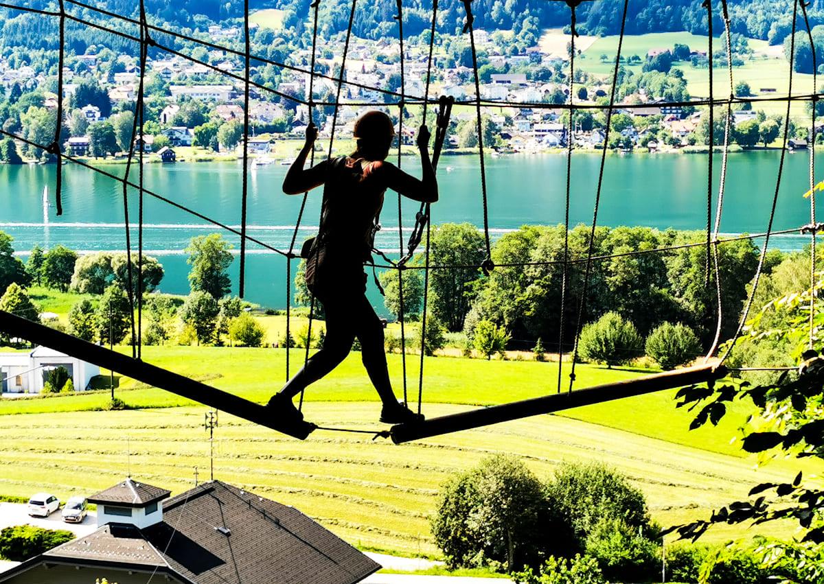 22 Kletterwald Ossiacher See - Kletterwald Ossiacher See   Ausflugsziele Kärnten / Österreich