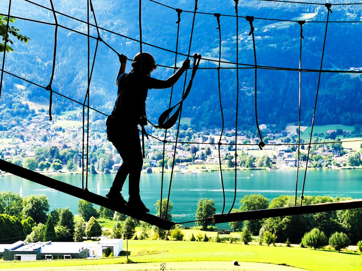 23 Kletterwald Ossiacher See - Kletterwald Ossiacher See   Ausflugsziele Kärnten / Österreich