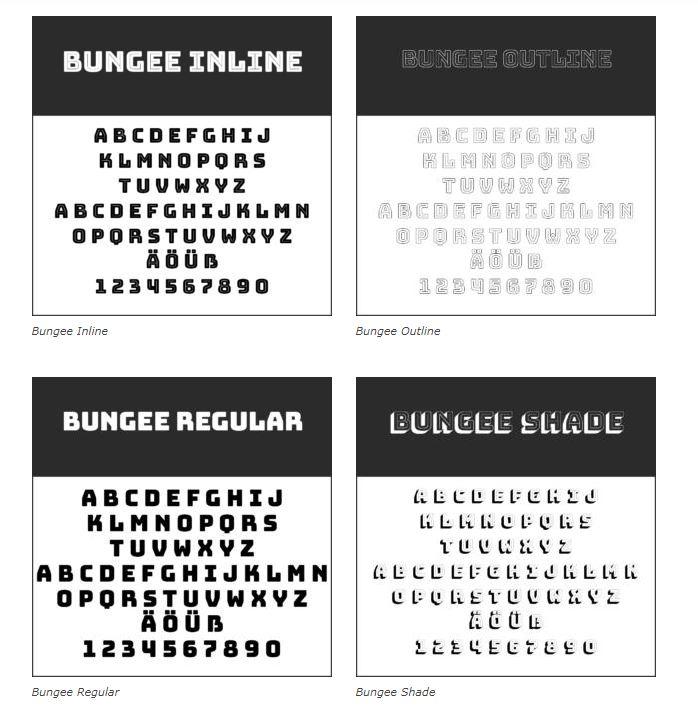 Schrift Bungee - Coole Schriftarten – unsere Top Ten zum Gratis-Download
