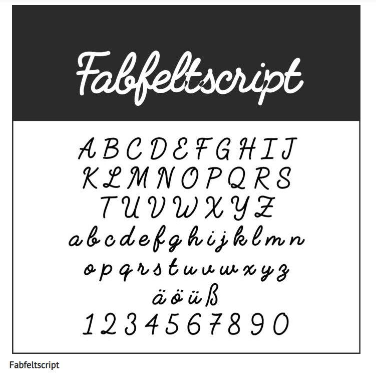 Schrift Fabfeltscript - Coole Schriftarten – unsere Top Ten zum Gratis-Download