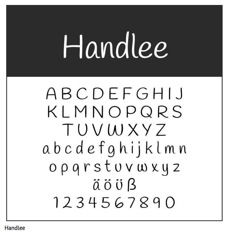 Schrift Handlee - Coole Schriftarten – unsere Top Ten zum Gratis-Download