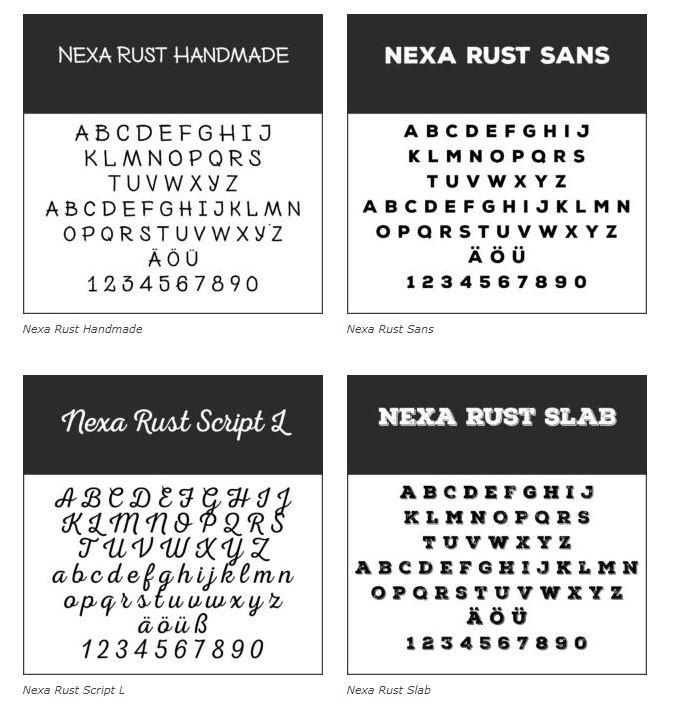 Schrift Nexa Rust - Coole Schriftarten – unsere Top Ten zum Gratis-Download