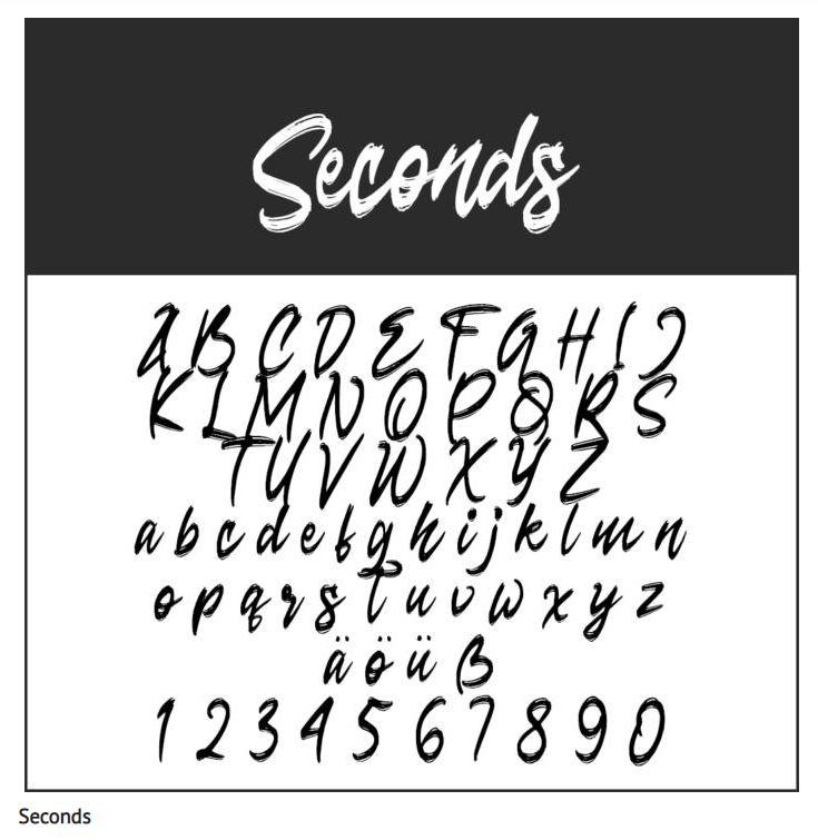 Schrift Seconds - Coole Schriftarten – unsere Top Ten zum Gratis-Download