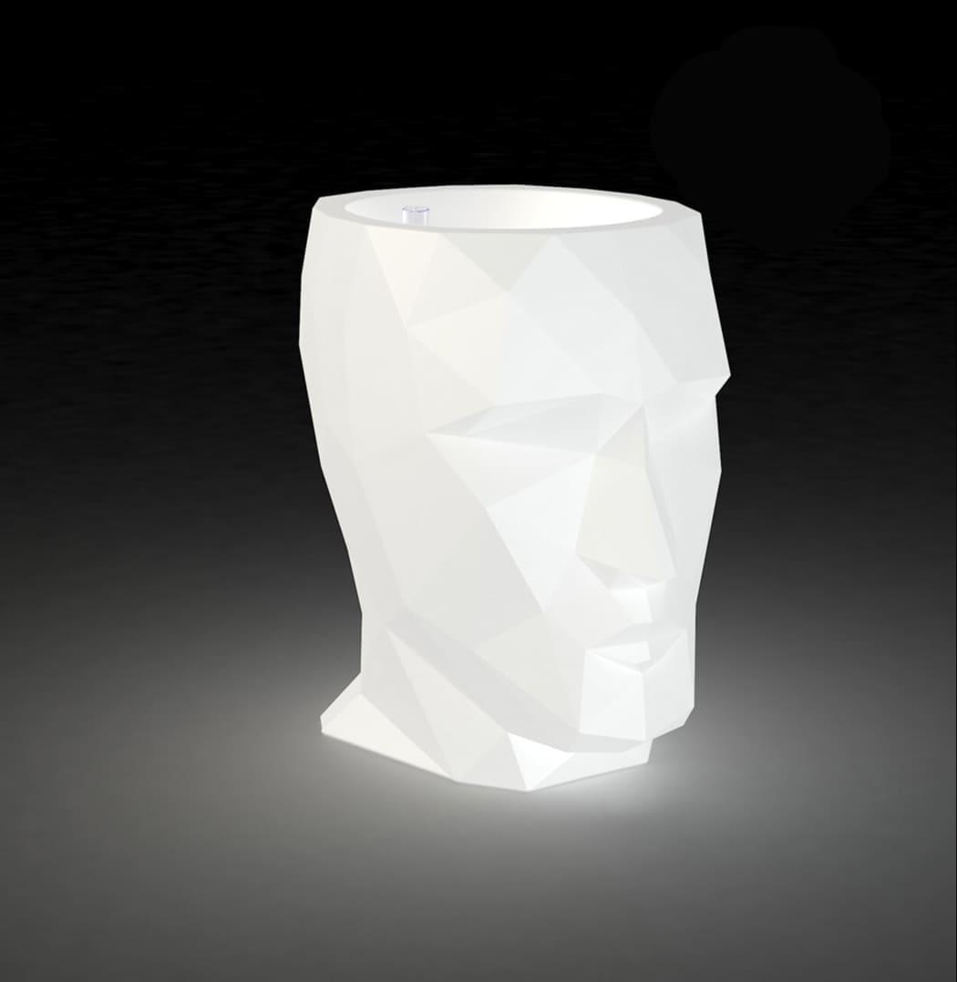 Ausgefallene Vase beleuchtet AdanVondomStatuePlanter Kopf  - Aufgefallene Pflanzengefäße in Kopfform